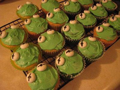 Kermit Cupcakes