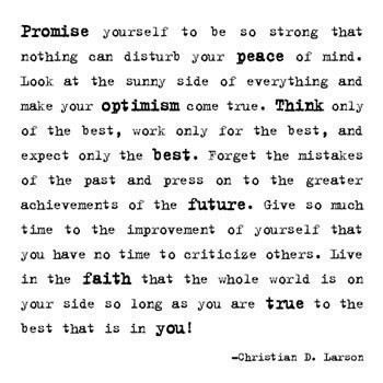 promise yourself to be so strong