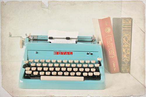 royal blue typewriter