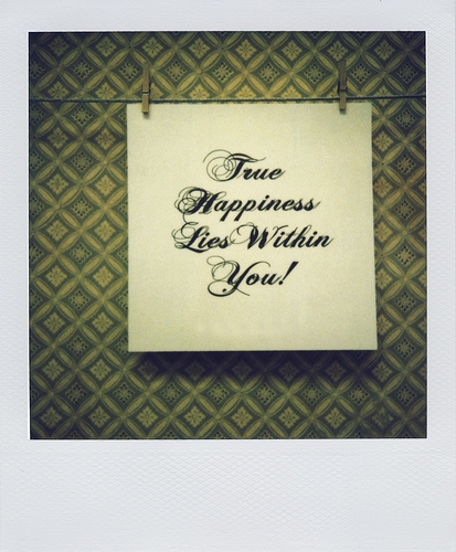 true happiness lies within you