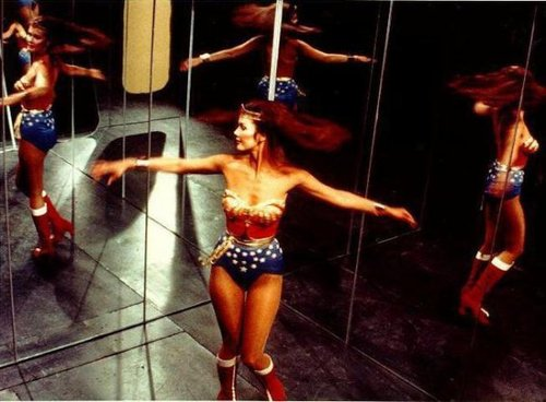 wonder woman in mirrors