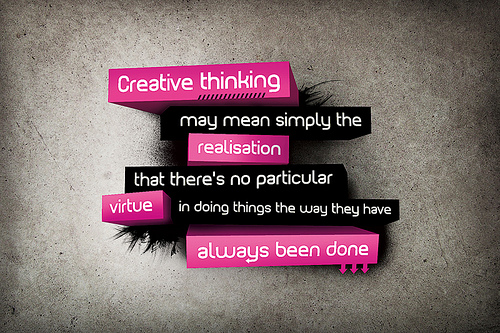 creative thinking...realization