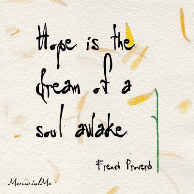 hope is the dream of a soul awake