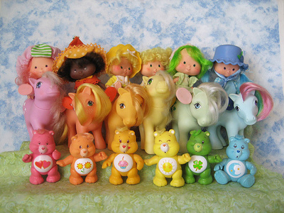 mlp, care bears, strawberry shortcake omg!