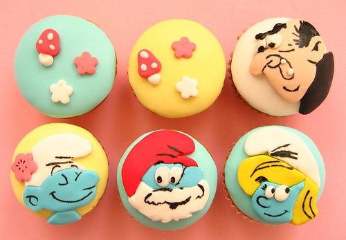 cupcakes smurf cupcakes