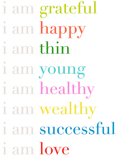 i am grateful, happy, thin, young