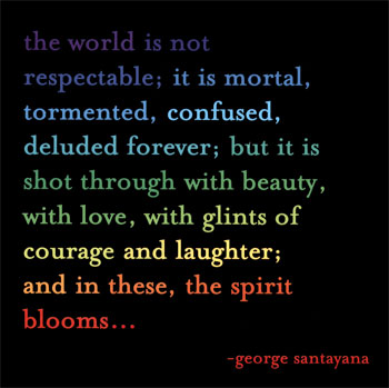 the world is not respectable