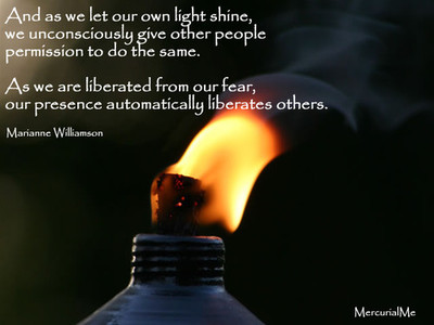 as we let our own light shine