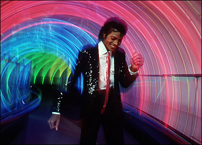 mj in tunnel of lights