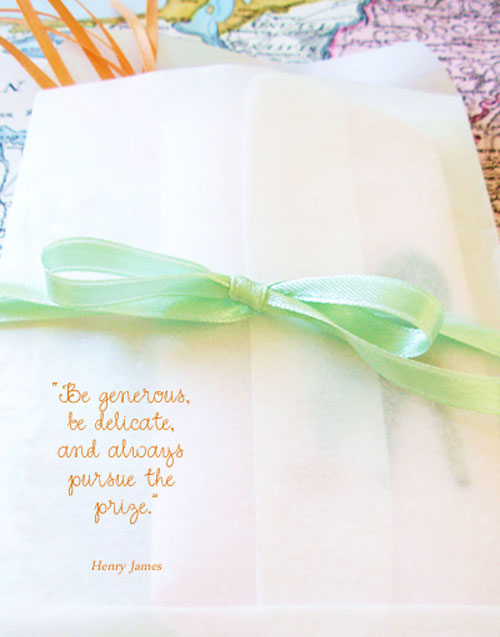 be generous be delicate and always pursue the prize