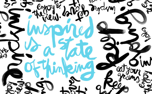 inspired is a state of thinking