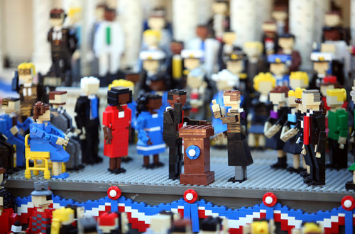 lego inauguration stage