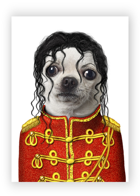 Michael Jackson web card