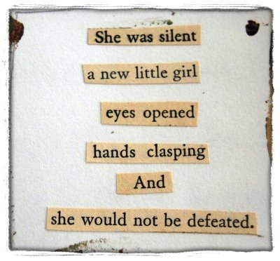 she was silent a new little girl