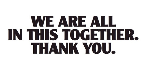 we are all in this together thank you