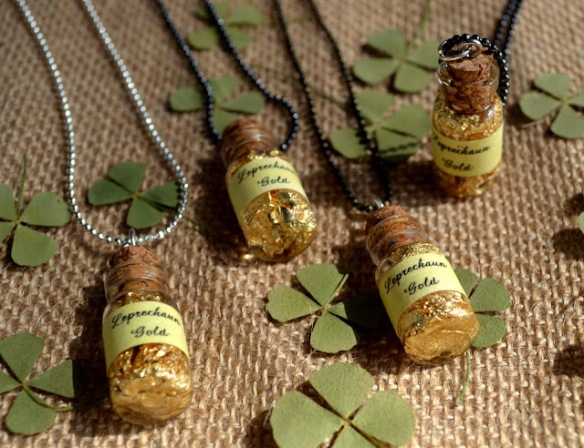 wee bottles of leprechaun gold st. patrick's necklace 8
