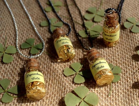 wee bottles of leprechaun gold st. patrick's necklace 8