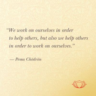 work on ourselves to help