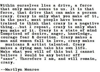 crazy marliyn monroe