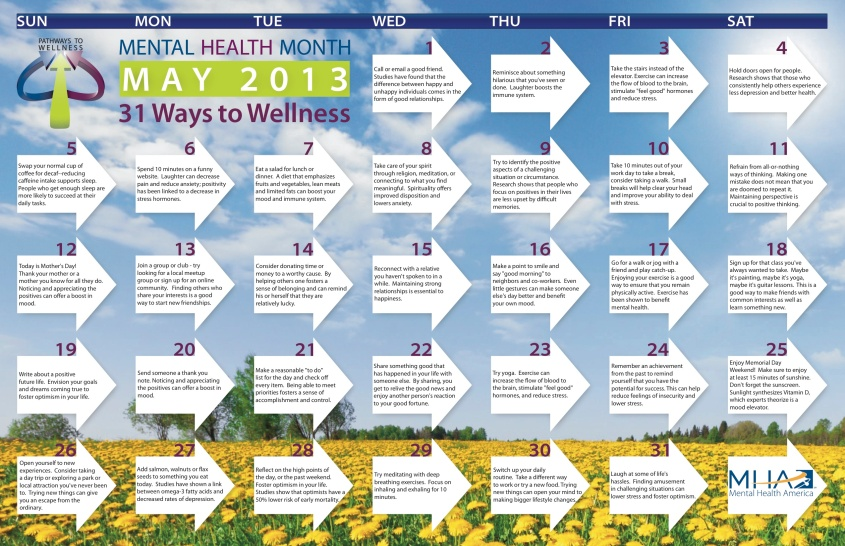 mental health month calendar jpg