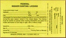 ATF 1995 nigger hunting liscense