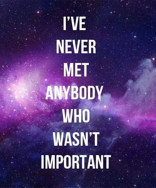 never met an unimportant