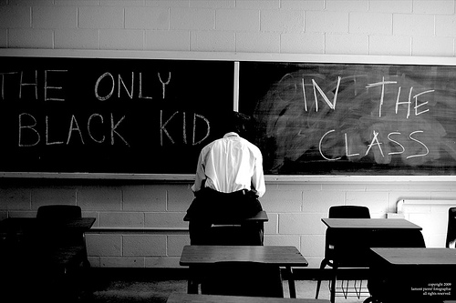 only black kid in class
