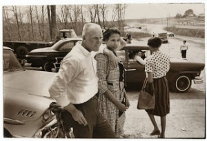Richard & MIldred in checked skirt and top Loving